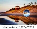beautiful transparent glass... | Shutterstock . vector #1220637211