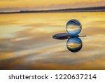 beautiful transparent glass... | Shutterstock . vector #1220637214