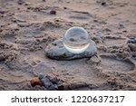 beautiful transparent glass... | Shutterstock . vector #1220637217