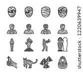 mummy icon set flat icon set... | Shutterstock .eps vector #1220639947