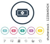 lottery ticket flat color icons ... | Shutterstock .eps vector #1220640424