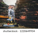 ancient thai soldiers ready to... | Shutterstock . vector #1220649934