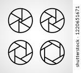 set of aperture icons. vector... | Shutterstock .eps vector #1220651671