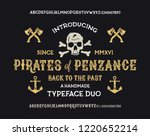 retro styled modern fonts.... | Shutterstock .eps vector #1220652214