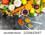herbs  spices  fruits and... | Shutterstock . vector #1220652697