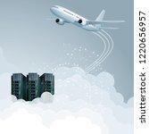 cloud computing concept design. ... | Shutterstock .eps vector #1220656957