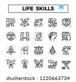 life skill outline icon set. | Shutterstock .eps vector #1220663734