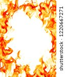 burning fire frame | Shutterstock . vector #1220667271