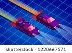 retro future. 80s style sci fi... | Shutterstock .eps vector #1220667571
