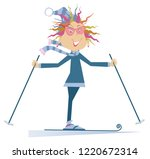 skier woman isolated... | Shutterstock .eps vector #1220672314