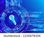 global network security. cyber... | Shutterstock .eps vector #1220678104