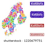 mosaic brick style map of... | Shutterstock .eps vector #1220679751