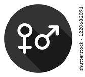 gender icon. gender sign of men ... | Shutterstock .eps vector #1220682091