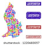 mosaic brick style map of... | Shutterstock .eps vector #1220683057