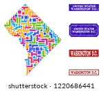 mosaic brick style map of... | Shutterstock .eps vector #1220686441