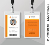 clean and simple orange id card ... | Shutterstock .eps vector #1220695387