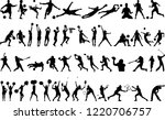 sport collection silhouette | Shutterstock .eps vector #1220706757