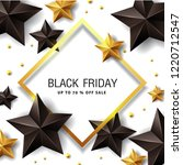 black friday sale banner layout ... | Shutterstock .eps vector #1220712547