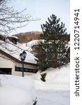 winter in schwarzwald. house in ...   Shutterstock . vector #1220714941