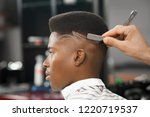 side view of serious man with...   Shutterstock . vector #1220719537