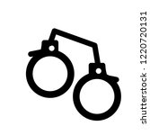 pair of handcuffs icon. trendy... | Shutterstock .eps vector #1220720131