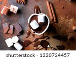delicious homemade hot... | Shutterstock . vector #1220724457