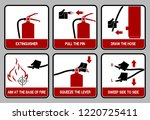 set of icon for extinguisher...   Shutterstock .eps vector #1220725411
