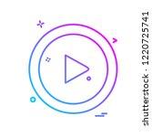 media button icon design vector | Shutterstock .eps vector #1220725741