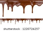 liquid chocolate dripping from... | Shutterstock . vector #1220726257