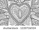 coloring book page with... | Shutterstock .eps vector #1220726524