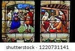 mortagne au perche  france  ... | Shutterstock . vector #1220731141