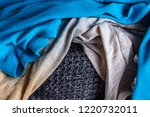 scattered clothes close up....   Shutterstock . vector #1220732011