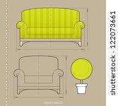 furniture design | Shutterstock .eps vector #122073661