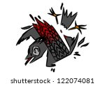 bird death   bird dead under... | Shutterstock .eps vector #122074081