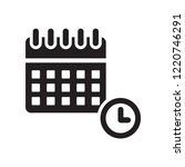 calendar with deadlines icon.... | Shutterstock .eps vector #1220746291