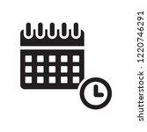 calendar with deadlines icon.... | Shutterstock .eps vector #1220746291