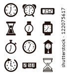 clock icons over white... | Shutterstock .eps vector #122075617