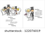 cartoon wedding picture | Shutterstock .eps vector #122076019