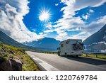 family vacation travel rv ... | Shutterstock . vector #1220769784