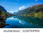 beautiful nature norway natural ... | Shutterstock . vector #1220769904