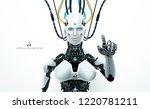 robot artificial intelligence... | Shutterstock .eps vector #1220781211