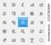 marketing icons. set of  line... | Shutterstock .eps vector #1220782684