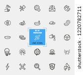 protection icons. set of  line...   Shutterstock .eps vector #1220782711
