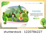 fishing landing page website... | Shutterstock .eps vector #1220786227