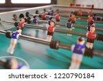 friends   guys and girls play... | Shutterstock . vector #1220790184