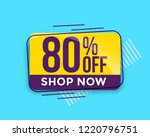 sale banner up to 80  off | Shutterstock .eps vector #1220796751