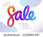 volume gradient figures sale.... | Shutterstock .eps vector #1220801197