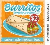vintage fast food burritos... | Shutterstock .eps vector #1220801521