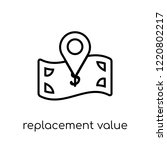 replacement value icon. trendy... | Shutterstock .eps vector #1220802217