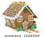 Gingerbread House And Snowman...